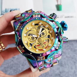 Dropshipping service HK libre magasin marque invicta DC Comics production Joker Joint Modèle: 30124 Calendrier complet montre à quartz Homme