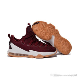 e73bb3a67ae Lebron 13 low mens basketball shoes for sale MVP Christmas BHM Easter  Halloween Akronite DB youth kids sneakers boots with Size 7 12