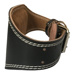 Leather Wrap Waist Belt UK - 105-130cm Adjustable Leather Weightlifting Belt Waist Support Gym Belt Unisex Wide Wrap Training Weight Lifting Brace Straps #242008