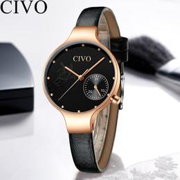 $enCountryForm.capitalKeyWord Australia - CIVO Luxury Casual Womens Dress Watch Girl Waterproof Quartz Watch Women Genuine Leather Watches Female Clock Gift For Ladies