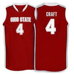 ff472e91e04 Cheap custom #4 Aaron Craft Ohio State Buckeyes basketball Jersey white red  Embroidery Stitched Custom any Number and name Jerseys NCAA