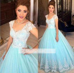 d786a6e549 White Lace Dress Blue Lining Australia - New Prom Dresses 2018 Elegant Sexy  Scoop White Light