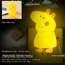 small plug night lamp NZ - led -controlled small plug-in remote control switch up lamp Nuan Guang bedside Night Light Night Light baby feeding lamp energy-saving dream