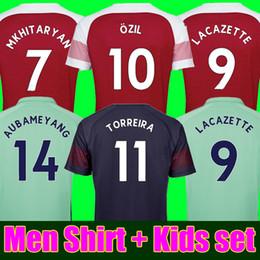 bd94844d2ca Thaiiland 18 19 AUBAMEYANG soccer jersey 2018 2019 LACAZETTE MKHITARYAN  XHAKA RAMSEY TORREIRA OZIL home away navy football shirts KIDS Kits