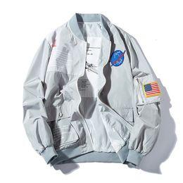 Men Military coat sliM online shopping - 2019 Spring MA1 Men Bomber Jacket Outwear Japan Military Flight Pilot Jackets Male Coat College Outerwear Military Jacket