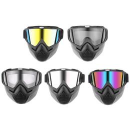 $enCountryForm.capitalKeyWord Australia - Hot Sales Detachable Modular Motorcycle Helmet Goggles Vintage Racing Open Face Motorcycle Half Helmet Mask Dust Ski Car Styling