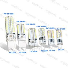 venda por atacado Lâmpadas LED G9 G4 1.5W 3W 4W 7W DC12V AC220V Milho SMD3014 Lâmpadas de Silicone para Crystal Chandelier Pingant EUB