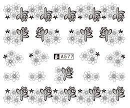 $enCountryForm.capitalKeyWord Australia - 5sheet 24types Newest Lace Kids Nail Water Stickers Designs Nail Art Stickers Decals Makeup DIY Water Tattoos Manicure A577-600