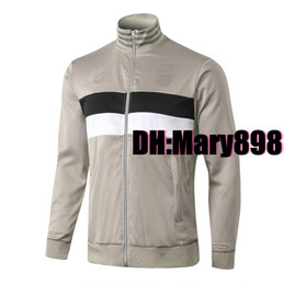 Wholesale full cardigan resale online - Any men Full zip cardigan training jacket Soccer Jersey Training suit kits need to contact Inquiry whether there is inventory
