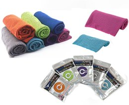 Cooling Summer Towels NZ - 80*30cm Ice Cold Towel Double Layers Instant Magic Cooling Towels Summer Sunstroke Sports Running GYM Excersice Quicky Dry Towels NEW A61802