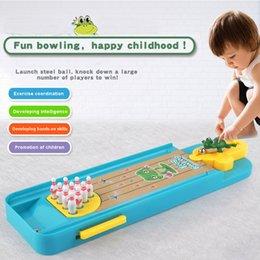 Hohe Qualität Cartoon Frosch Bowlingkugeln Pins Tabelle Set Schießen Spiel Sport Party Unterhaltungsgeräte Geschenk für Kinder