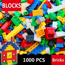 toy building bricks brands Australia - 1000 Pcs Building Bricks Set DIY Creative Brick Kids Toy Educational Building Blocks Bulk Compatible with All Brands