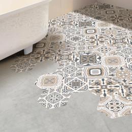 $enCountryForm.capitalKeyWord Australia - Retro Tile Stickers DIY Decor Non-slip Hexagon Floor Sticker Bathroom Toilet Kitchen Waterproof PVC Wall Stickers Ground Self adhesive Mural