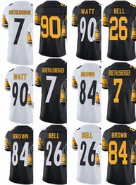 02c727ba4e4 Pittsburgh Steeler Mens Jersey #7 Ben Roethlisberger #26 Le'Veon Bell #84  Antonio Brown #90 T.J. Watt Vapor#Untouchable Limited Jerseys
