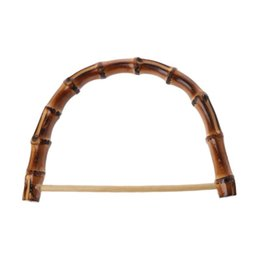 Wholesale 1Pc Nature Bamboo Bag Handle DIY Handcrafted Handbag Accessories Wooden Cane Purse Frame