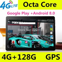 tablet sim card bluetooth 2019 - 10.1 inch Octa Core 3G 4G LTE Tablets Android 8.0 RAM 4GB ROM 64GB 8.0MP Dual SIM Card Bluetooth GPS Tablets 10 inch tab