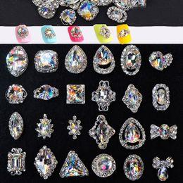 $enCountryForm.capitalKeyWord Australia - 10pcs lot New Crystal Nail Rhinestones Tear Drop  Heart  Bows Shape Glass Stones 3D Nail Jewelry Manicure Supplies JE-(222-245)
