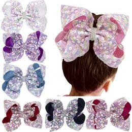 $enCountryForm.capitalKeyWord Australia - Wholesale Toddler Girls Large Sequin Bow Hair Clip   fashion Baby Hair Accessories