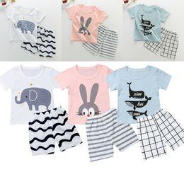 $enCountryForm.capitalKeyWord Australia - Kids Baby Boy Summer Clothes Short Sleeve T-shirt Tops Striped Shorts Pants 2PCS