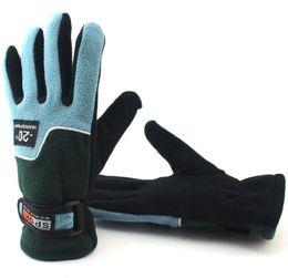 Windproof Thermal Gloves Unisex UK - fleece warm gloves Winter Outdoor Riding Men Gloves Windproof Thermal Bike Sports Full Finger Men Women gym Fitness Gloves