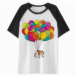 Solid Balloon UK - Artistic bulldog Balloon t shirt streetwear top clothing male men hip tee tshirt funny harajuku hop t-shirt for QF4036