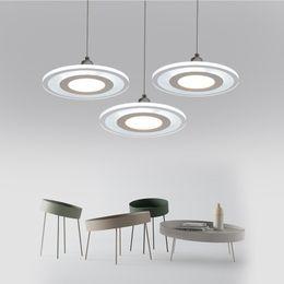 Kitchen Acrylics Australia - Acrylic Ceiling Mounted Pendant lamp Hanglamp Dinning Kitchen Led Pendant Light 12,24,36W 220-240V lustre luminiare fixtures
