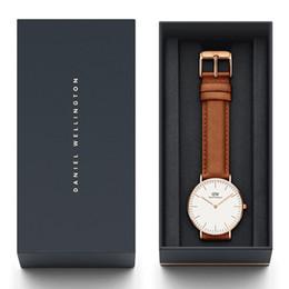 Nova Moda de Alta Qualidade Daniel Wellington Clássico Relógios Mens 40mm Womens 36mm Pulseira De Couro Genuíno De Quartzo DW Relógio de Pulso de Designer de Relógios
