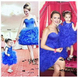 Discount summer flowers - Sweetheart Ball Gown Puffy Prom Dresses Mother And Daughter Best Matching Party Gowns Custom Flower Girls Dress Customiz