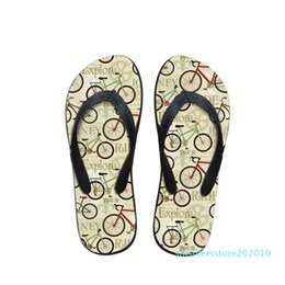 bicycle house Australia - WHEREISART House Slippers Women Bicycle Journey Printing Summer Beach Flip Flops Sandals Women's Slippers Cartoon Sandals Youth s10