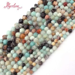 "$enCountryForm.capitalKeyWord Australia - 4,6,8,10,12mm Faceted Multicolor Amazonite Beads Natural Stone Beads For DIY Necklace Bracelets Jewelry Making 15"" Free Shipping"