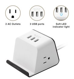 $enCountryForm.capitalKeyWord NZ - New 2 AC Outlet + 3USB High Power Surge Protection Socket with Mobile Holder US EU UK plug