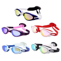 caf66466afb Swimming Goggles Waterproof Anti-fog HD Anti-UV Plating Silicone Large  Frame Goggles Adjustable Mirror With Adult Good Quality