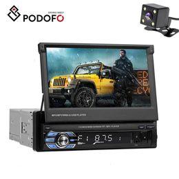 Podofo Rádio Do Carro Bluetooth Car DVD Estéreo 1 din 7