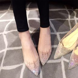 NEWEST Mesh Crystals summer women shoes Pointed Toe Chinese Bridal wedding  shoes silver women flats 72a4943e15a9