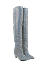 $enCountryForm.capitalKeyWord UK - 2018 Spike Heels Rhinestone Boots for women Over the knee Womens Knight Boot