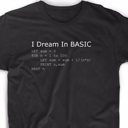 Programs Computers Australia - 2019 Funny Basic Programming Language Computer T Shirt Retro Video Game Geek Funny Nerd Tee Tees