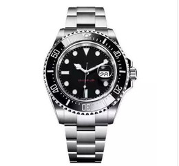 Watches bracelets online shopping - New Ceramic Bezel Men s mm Stanless Steel Bracelet SEA DWELLER Automatic Movement Mechanical mens Watch Wristwatches Adjust buckle