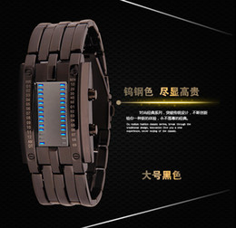 lava iron Canada - Lava led iron man rage tungsten steel binary two wire LED electronic watch