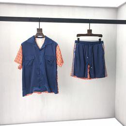 19ss italienischen Luxuswaren Frühherbst neuesten hochwertigen gestreiften Hemd Mode Anzug Männer Designer Männer und Frauen das gleiche Tag Top heißer Verkauf im Angebot