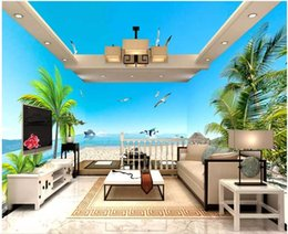 beach wallpaper for home Australia - custom photo 3d wallpaper Cloud beach coconut tree sea view Whole house background wall home decor 3d wall murals wallpaper for walls 3 d