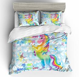 $enCountryForm.capitalKeyWord Australia - Thumbedding Dropship Popular Standing Horse Unicorn Bedding Sets Animal Print 3D Duvet Cover Set All Size 100% Polyester Colorful Bed Set