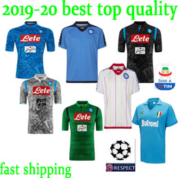Discount jersey naples - new 2018 2019 Serie A Naples New Napoli home soccer jerseys Napoli blue football Jerseys Shirt for men 18 19 HAMSIK L.IN