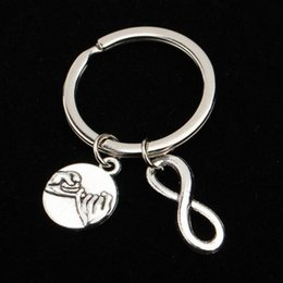 Hand Hooked Bag Australia - Fashion Jewelry Infinity 8 Words Hook Hook Friendship Infinity Hand Hand Couple Keychain Bag Chain Keychain Silver Unisex Gift
