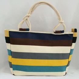 $enCountryForm.capitalKeyWord Australia - Designer-New 24 colors color stripe canvas mass fashion leisure female Lady bag printing big canvas bag hot cakes