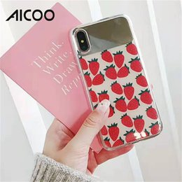 acrylic mirror phone case 2019 - AICOO Acrylic Mirror Phone Case Hybrid Lovely Cute Fresh Makeup Art Case for Girls for iPhone XS MAX XR OPP
