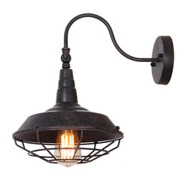Chinese  Industrial Metal Wall Sconces with Metal Shade Retro Rustic Loft Antique Wall Lamp Edison Vintage Decorative Wall Light Fixtures Lighting manufacturers