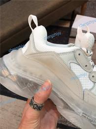 Pvc Plastic woman online shopping - New Fashion Paris FW Triple S Sneaker Triple S Casual Dad Shoes for Men s Women green Ceahp Sports Designer Shoe Size