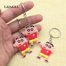 $enCountryForm.capitalKeyWord Australia - Anime Figure Straps Bag Phone Charms PVC Cartoon Cute Crayon Shin-chan 5pcs lot 31*86mm Key Chain Ring Comic Key Holder AYSQ146