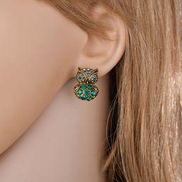 $enCountryForm.capitalKeyWord Australia - 2019 New Fashion Rhinestone Cute Vintage Owl Stud Earrings For Girl Women Beautiful Accessories E2698