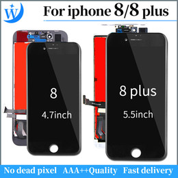 White Touch Screen Assembly Australia - A++++ For iphone 8 lcd screen replacement Display with 3D Touch Screen Digitizer Assembly Replacement Repair Part 8 plus white black